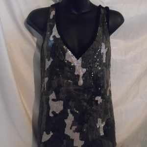 Cato Womans Sleevless Top Size Small With Sequins
